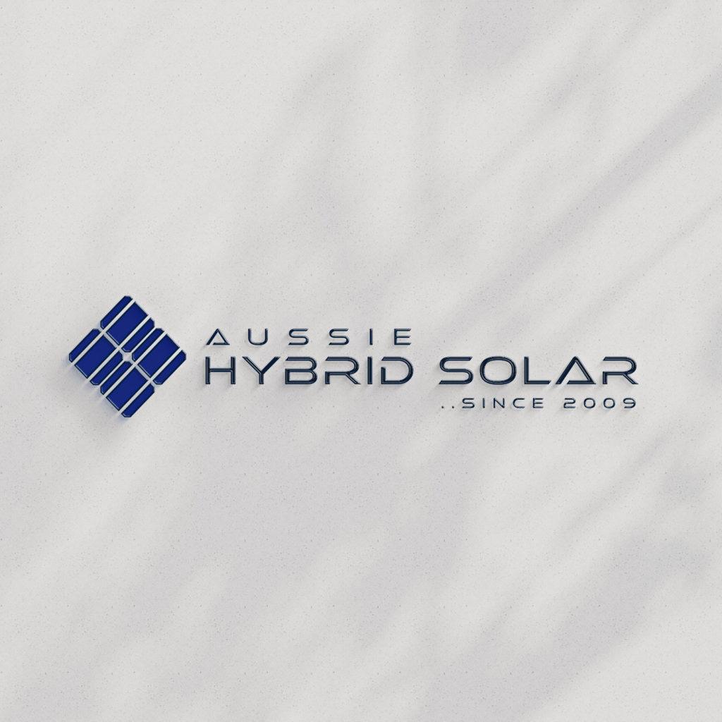 aussie hybrid solar logo design